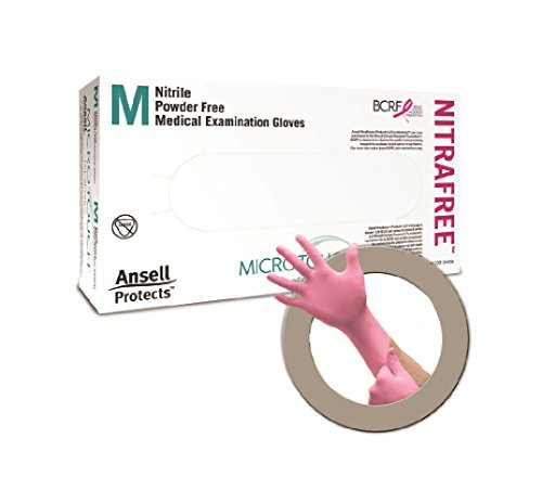 Ansell MicroTouch NitraFree Nitrile Exam Gloves, Medium - 1/Case of 1000 by Ansell