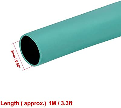 Gaine thermor/étractable 2:1 tube isolation /électrique c/âble fil gaine Wrap Noir 2mm Dia 10m Long