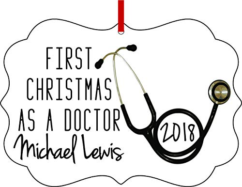 Jacks Outlet Ornament Medical First Christmas as a Doctor 2018 Ornaments You Can Personalize Semigloss Elegant Aluminum Glossy Christmas Ornament Tree Decoration - Customize Your - Can Aluminum Ornaments