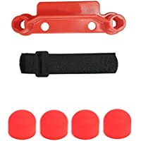 Mavic Pro Anti-drop Silicone motor cap cover + Transport Clip Controller Transmitter Stick Thumb Protector Guard with Velcro Strap for Mavic Pro(Red)