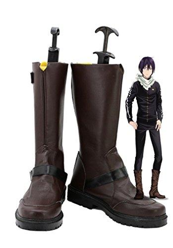 Bromeo Noragami ARAGOTO Yato Cosplay Chaussure Bottes Boots