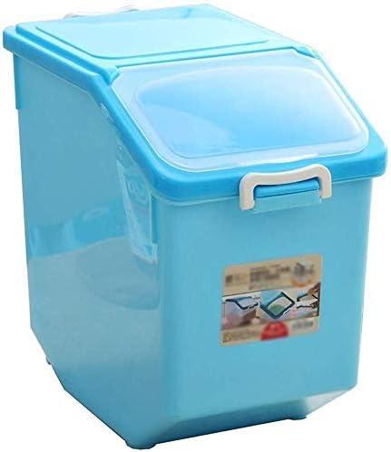 FCXBQ Caja de Almacenamiento Almacén de Cocina Contenedor de Almacenamiento de Granos con Ruedas Harina de arroz Comida para Perros Caja de Almacenamiento de Comida para Gatos 17kg Insectos sellad: Amazon.es: Hogar