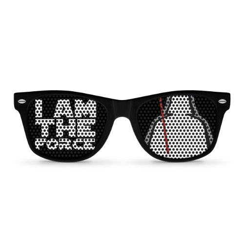 I AM THE FORCE Black Retro Party - Vader Darth Sunglasses