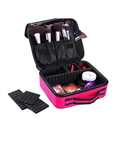 TUTOU Professional Cosmetic case, partition Storage Large Cosmetic case Makeup Artist with Makeup Portable Beauty kit Tattoo Tool kit (red and Black),Brose from TUTOU
