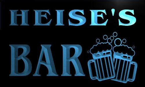 Price comparison product image w007568-b HEISE'S Name Home Bar Pub Beer Mugs Cheers Neon Light Sign