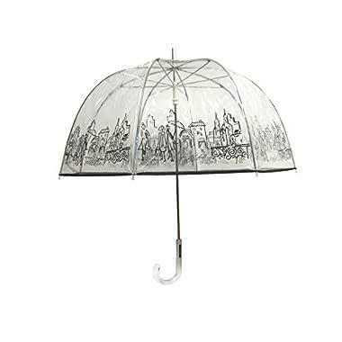 London Fog Clear Umbrella, City, One Size
