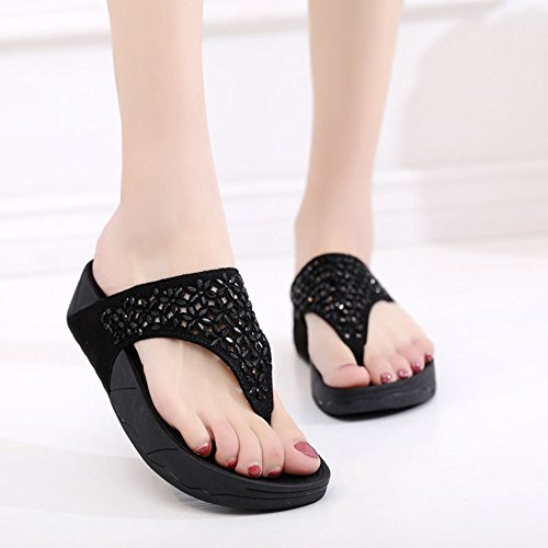 40 Pour Black eu4041 Femmes Sandales Eu 7 Chaussons De Plage Uk Épais Zhang2 Chaussures Jetables O7wdq