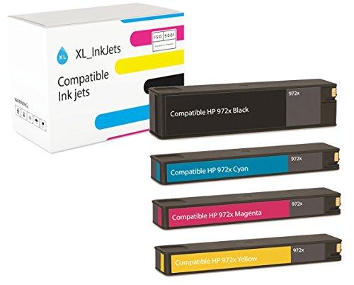 Hp 7000 Series (HP 972X High Yield 4-Pack (CMYK: HP F6T84AN, L0S04AN, L0S01AN, L0R98AN. Capacity: 1x 10.000 Pages, 3x 7000 Pages) - compatible)