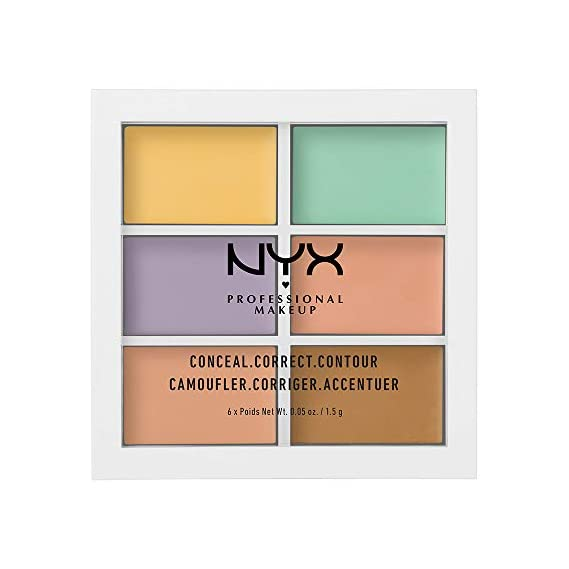 Nyx Professional Makeup Conceal, Correct and Contour Palette, Colour Correcting, 1.5g