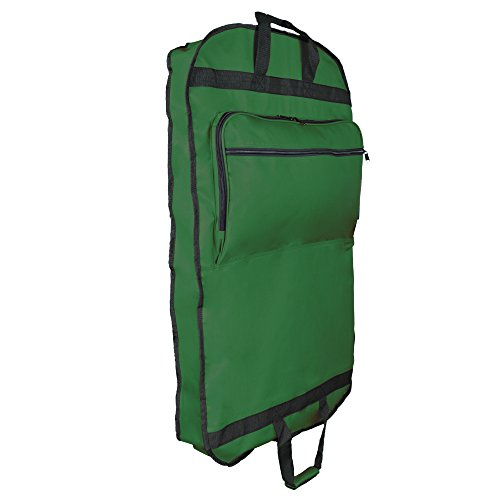 DALIX 39' Garment Bag Cover for Suits and Dresses Clothing Foldable w Pockets (Dark Green)