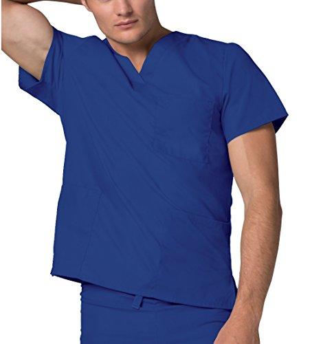 Da Uniformi Parte Ospedale Blu Infermiera Lavoro royal Blue Superiore Unisex Camice Mediche Adar 8BwxdqZ8