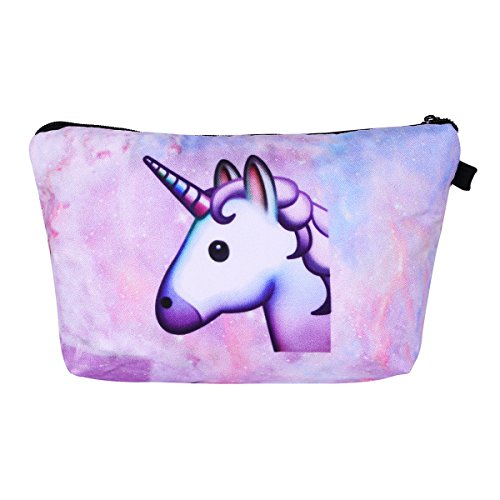 Price comparison product image Multi-purpose Unicorn Cosmetic Makeup Pouch Travel Case Bills Changes Keys Storage Bag Kids Pencil Case Style 03 One Size