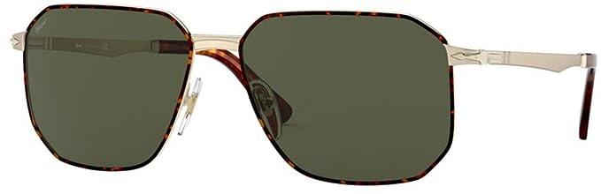 Persol 0PO2461S Gafas de sol, Gold/Havana, 58 Unisex: Amazon ...