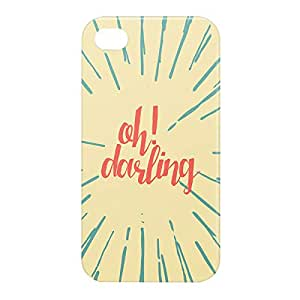 Loud Universe Apple iPhone 4/4s 3D Wrap Around Oh Darling Print Cover - Multi Color