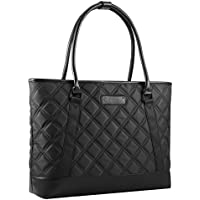 Gonex Women Laptop Tote Bag, 15.6 Inch Lightweight Tablet Handbag Shoulder Bag Briefcase for Business Work Travel Black