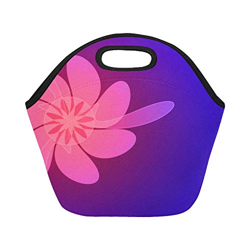 Box Zone Nature (Insulated Neoprene Lunch Bag Flower Beautiful Amazing Green Nature Color Large Size Reusable Thermal Thick Lunch Tote Bags For Lunch Boxes For Outdoors,work, Office, School)