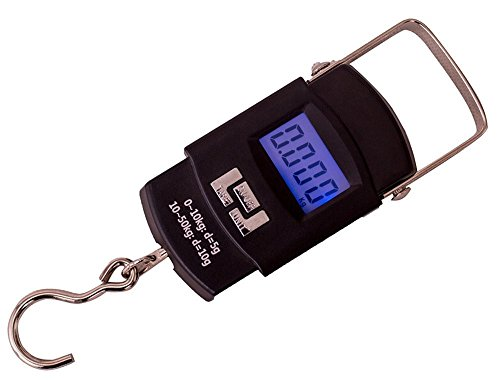 LDW Electronic Scale Portable Hanging Hook Scale Postal Luggage Scale 50kg/10g Black