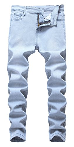 - FREDD MARSHALL Boy's Light Blue Skinny Fit Stretch Slim Straight Fashion Jeans Pants