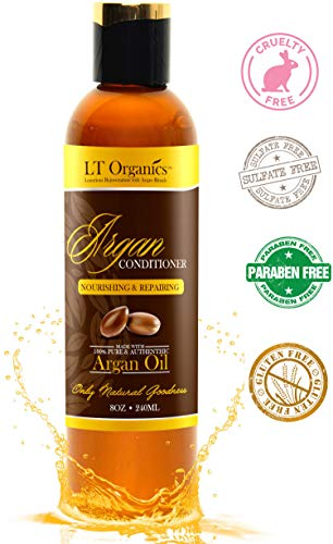 Argan Oil Conditioner - Paraben Free and Sulfate Free Hair Treatment For Dry Damages Hair. Eliminates Frizz & Promotes Hair Growth - Renewing, Natural & Made with Organic Argan Oil. 8oz