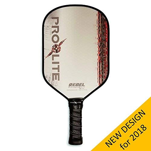 Pro-Lite Rebel PowerSpin Pickleball Paddle (Red) - NEW DESIGN