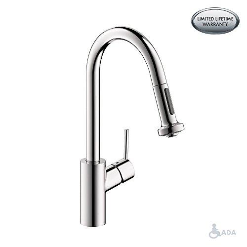 hansgrohe chrome kitchen faucet - 4
