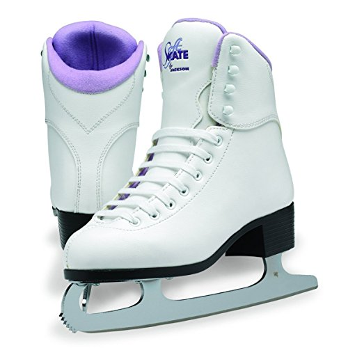 Vinyl Girls Ice Skates - Jackson Ultima GS181 Misses Figure Skates - Size 12 Junior