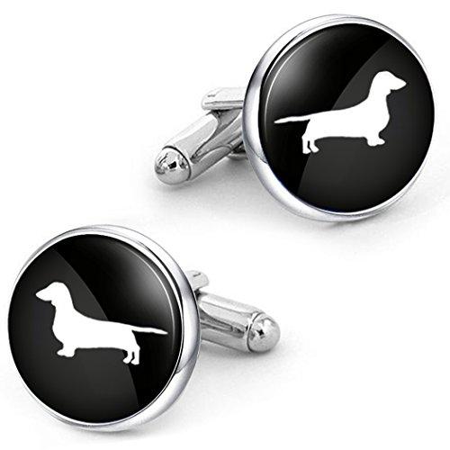 Dog Plated Cufflinks - Kooer Pet Dog Dachshund Cufflinks Custom Personalized Cuff Links Vintage Handmade Wedding Cufflinks