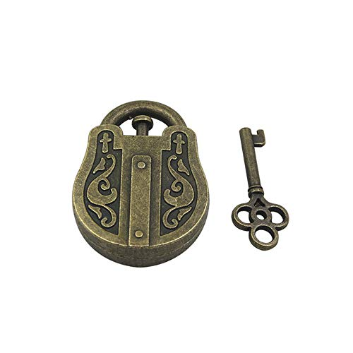 Matoen Metal Puzzle Lock Cast Metal Brain Teaser Puzzle Magic Trick Toy IQ&EQ Test Magic Box Magic Lock Toys (A, ()