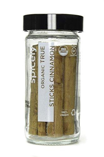 Photo of Spicely Organic Cinnamon True Sticks (Ceylon) 6 Count Jar Certified Gluten Free