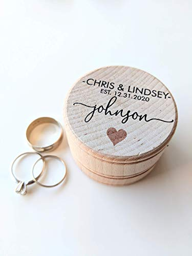 Personalized Wedding Rings (Personalized Wedding Ring Box Ring Bearer Box Custom Ring Box Engagement Ring Box 12 DESIGN)