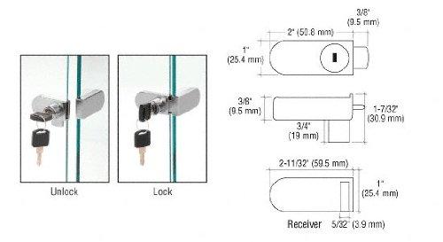 CRL Nickel Plate No-Drill Showcase Lock