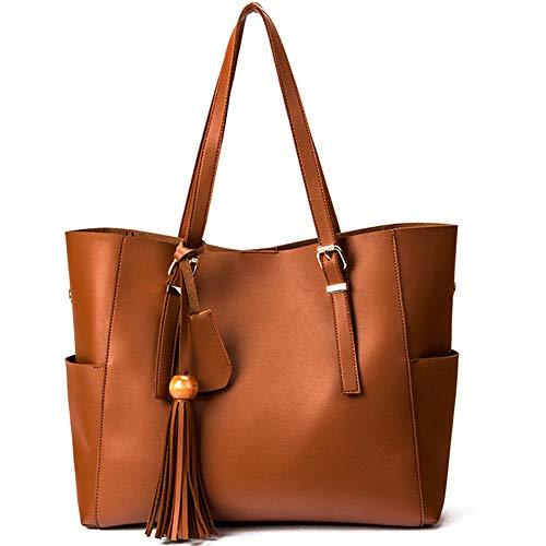 Grande À 5 Capacité Bandoulière Main Mzdpp Casual New Tout Fashion À Couleurs Fourre Sacs Brown Sacs Eq1HzTB