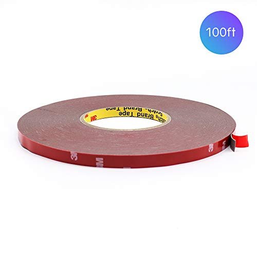 - HitLights Heavy Duty Foam Mounting Tape, 100 Feet 0.4Inch Width Strong Adhesive Waterproof Clear Removable Mounting Tape for LED Strip Lights, Home Decor, Office Decor