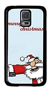 Alcoholic Santa Merry Christmas Samsung Galaxy S5 I9600 Hard Shell Case Black
