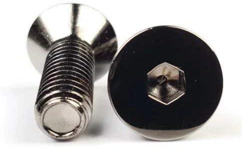 Black Chrome Plated Steel Flat Head Socket Cap Screws 3//8-24 x 1 Qty 250