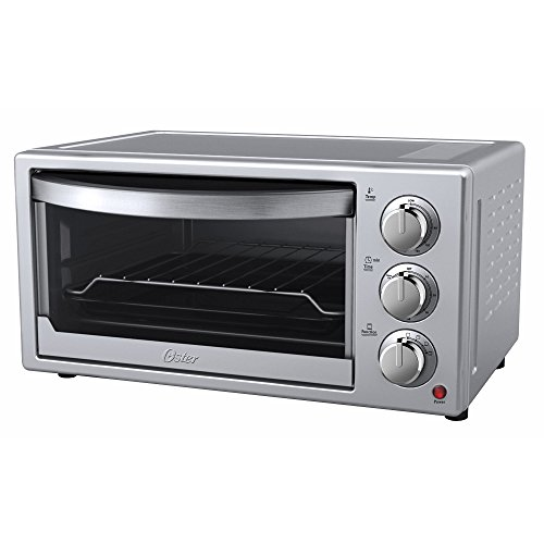 New Oster 6-Slice Convection Toaster Countertop Oven - Silver Housing & Stainless Steel Front - 60 M...