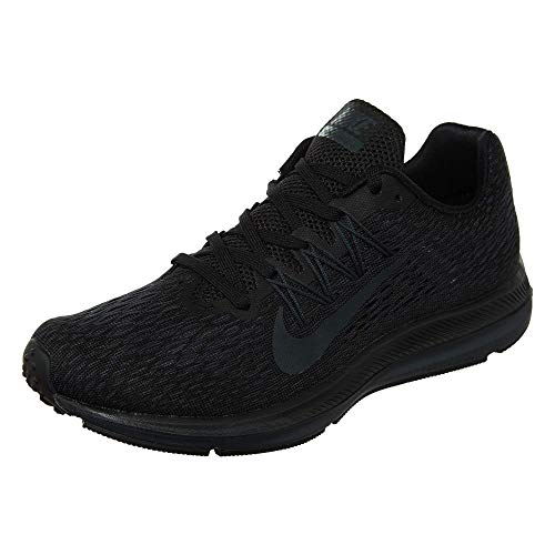 Team Flops Flip (Nike Women's Air Zoom Winflo 5 Running Shoe, Black/Anthracite, 6)