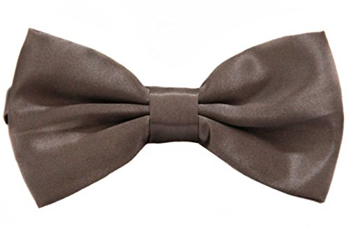Soophen Pre Tied Mens Adjustable Bow Tie Taupe (Bow Taupe)