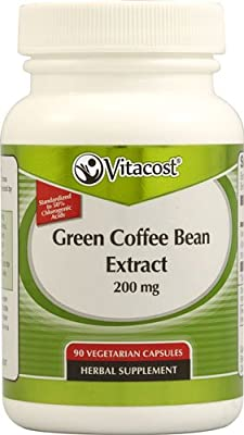 Vitacost Green Coffee Bean Extract -- 200 mg - 90 Vegetarian Capsules