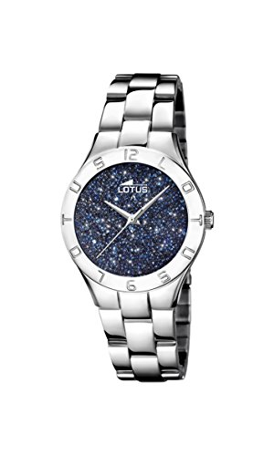Women's Watch Lotus - L18568/2 - Crystals from Swarovski - Blue and Silver by Lotus