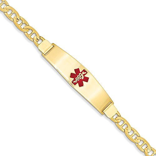 "14 carats Medical Jewelry Bracelet 7 ""Motif JewelryWeb"