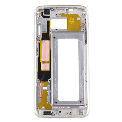 HAIJUN Mobile Phone Replacement Parts Front Housing LCD Frame Bezel Plate for Galaxy S7 Edge / G935(Grey) Flex Cable (Color : Silver) ()