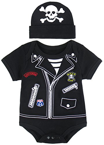 Punk Costume Ideas (Mombebe Baby Boys' Punk Chopper Costume Bodysuit with Hat (12-18 Months, Chopper))
