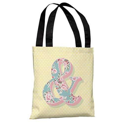 Bella Floral Tote - One Bella Casa Ampersand Floral - Yellow Multi 18