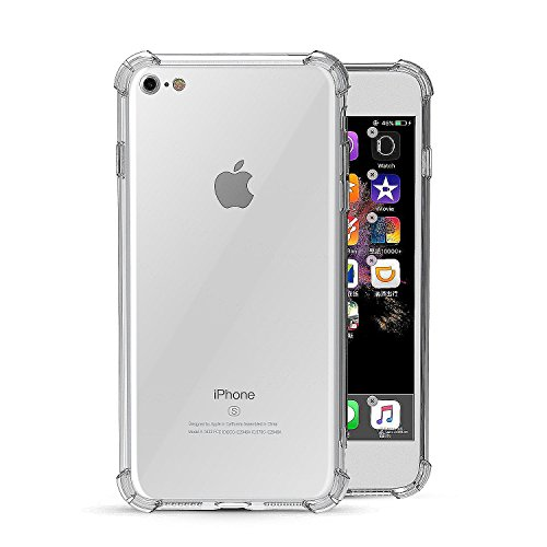 iPhone 7, iPhone 8 Case, Mooseng Crystal Clear [Shock Absorption] soft TPU Bumper Cushion + Hybrid Rugged Transparent Panel Cover for iPhone 7 / 8 - (Soft Tpu Bumper Case)