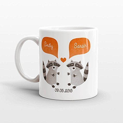 RACCOON Mug, Personalized Mugs, Love Couples Mugs, Mr. and Mrs. Love Mugs, Ceramic Mug, Anniversary Gift, Valentine's Day Gift, Perfect Gift For Girlfriend/Boyfriend, 11oz - A Top On How To Please Guy