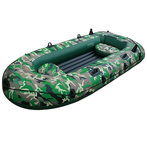 Mitrc Inflatable Kayak 4 Person PVC Thick Inflatable Boat Fishing Kayak Paddle Boat Raft Boat Rowing Boats