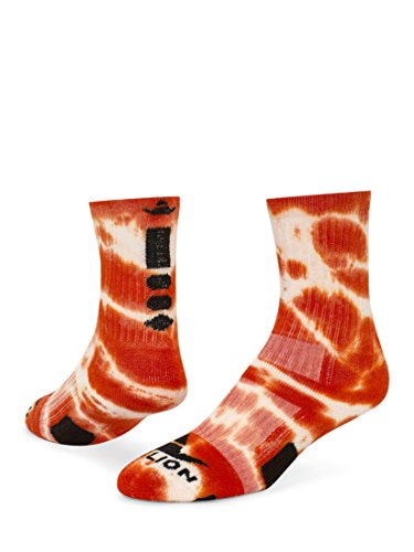 (Red Lion Maxim Crew Sock (Orange Tie Dyed - Large))