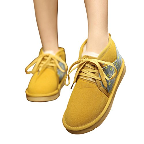 Artificial Optimal Snow Women Boots Yellow Warm Jean Nap 7H5OHSqwg