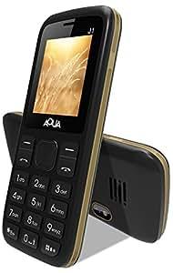 Aqua J1 - 1200 mAh Battery Slim Dual SIM Basic Keypad Mobile Phone with Vibration Feature - Black